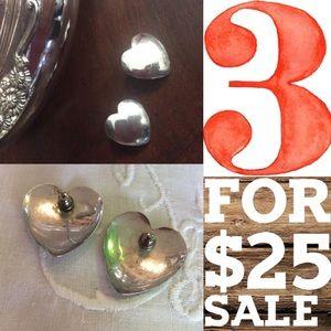Metal Heart Earrings 💙